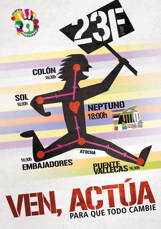 Mareas ciudadanas Madrid Asamblea Malasaña Colón