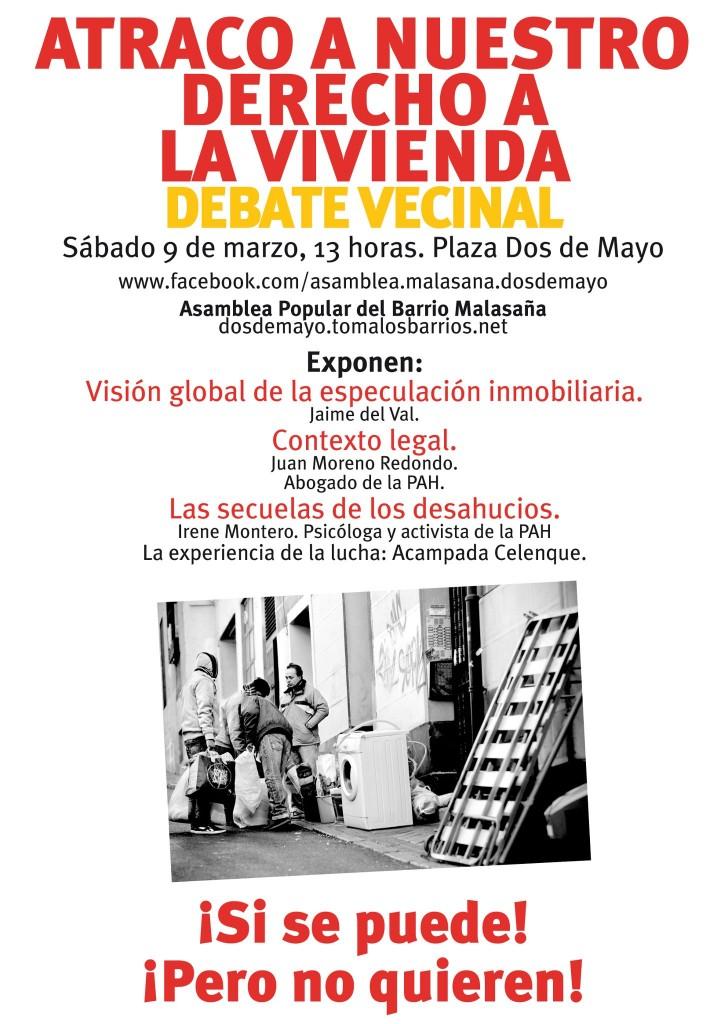 DERECHO A VIVIENDA ASAMBLEA MALASAÑA DOS DE MAYO MADRID
