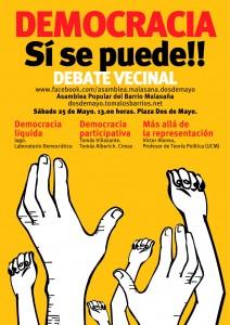 25 Mayo , asamblea tematica sobre democracia participativa