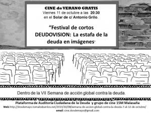 cartel para festival de cortos deudovision